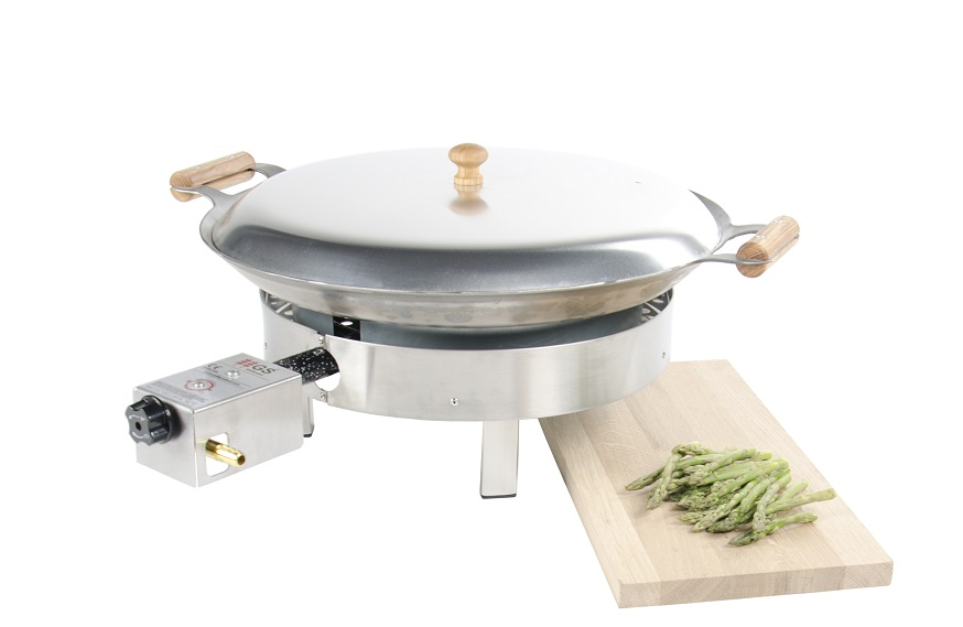 GrillSymbol Paella Frying Pan Set PRO-460 inox