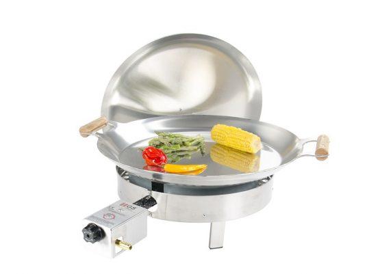 GrillSymbol Paella Frying Pan Set PRO-460 inox