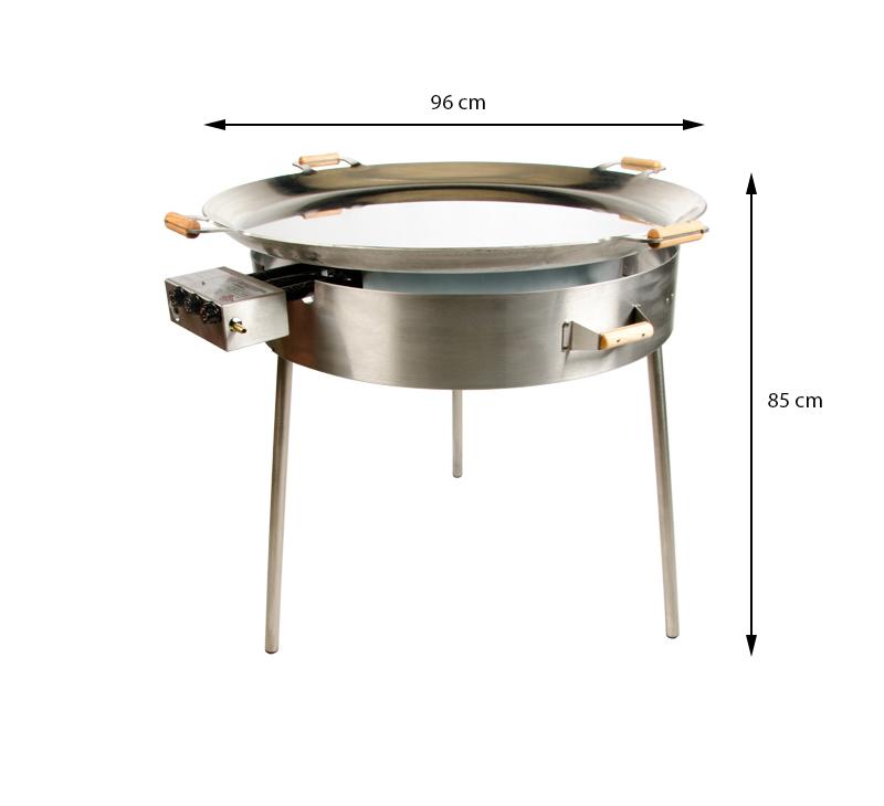GrillSymbol Kомплект со скороводой из нержавеющей стали Paella PRO-960i