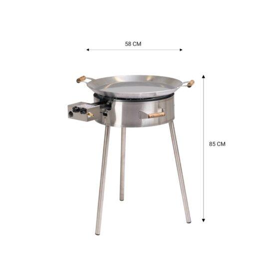 GrillSymbol pannikomplekt PRO-580 inox