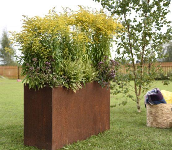 Grillsymbol Cor-Ten Flower Pot Lilly