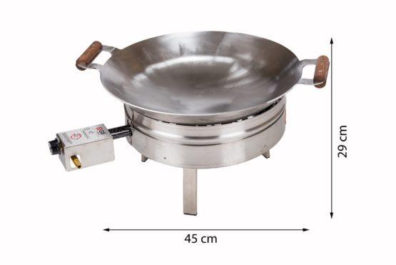 GrillSymbol Paella Wok Set PRO-450 inox