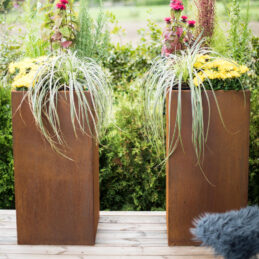 Corten Steel Planter Manhattan Set