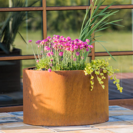 GrillSymbol Cor-Ten Steel Flower Pot Mia