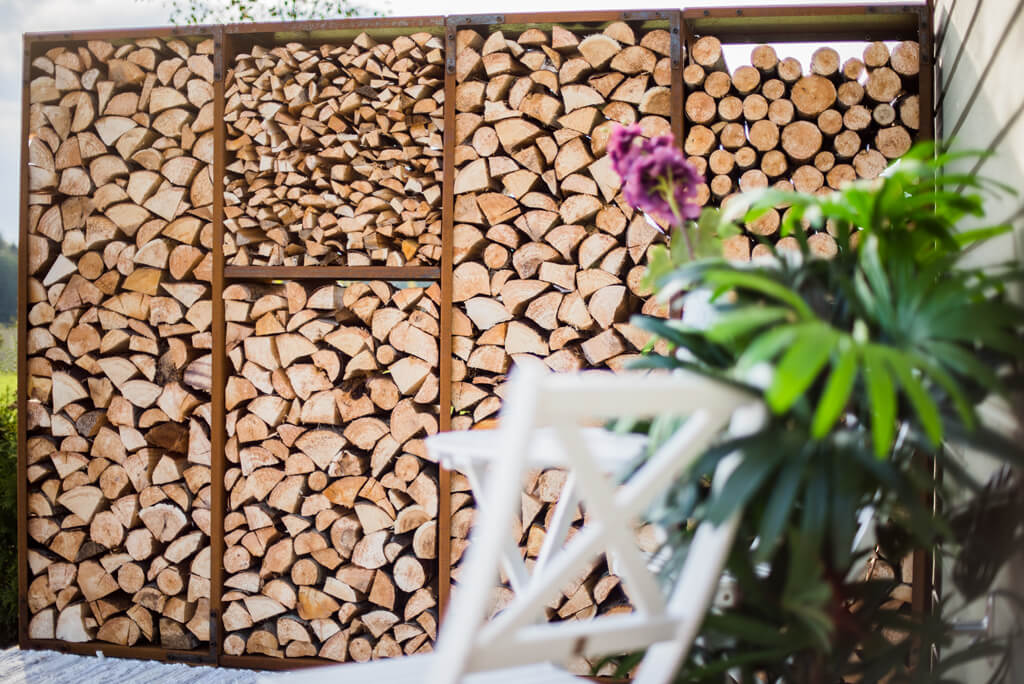 Cor-Ten Firewood Module WoodStock Wall XL