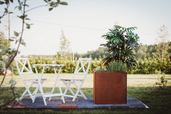 GrillSymbol Cor-Ten terasest lillepott Fiora L
